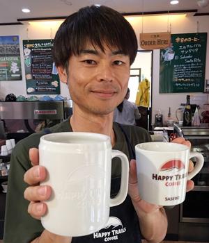 大きめマグカップに彫刻