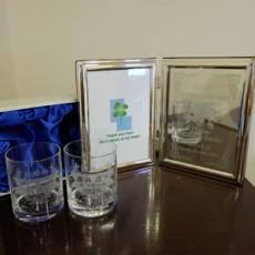 エッチングペアグラス&エッチングミラーフォトフレーム