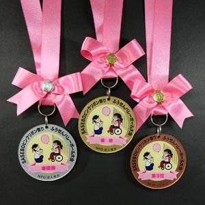 ピンクリボン アクリルメダル