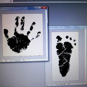 赤ちゃん手形足型キット3