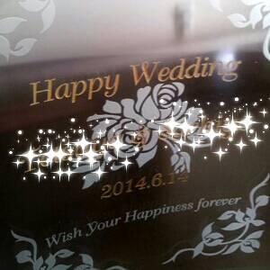 結婚祝ガラスフォト2