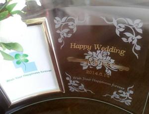 結婚祝ガラスフォト